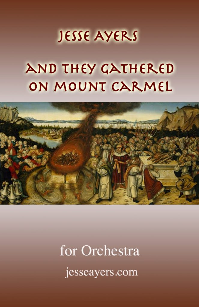 "Cover of ""Mount Carmel"" by Jesse Ayers for surround-sound symphonic band"